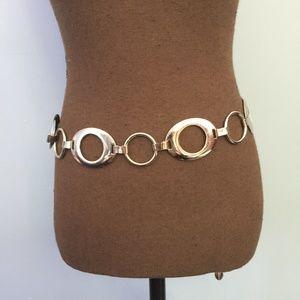 Nine West Chunky Wide Chain Link Metal Belt